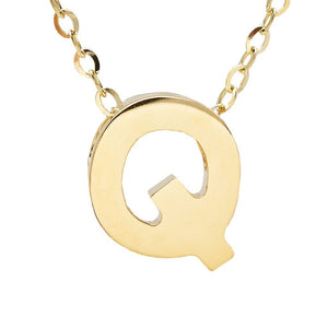 "Birmingham Jewelry - 14K Gold Initial ""Q"" Necklace - Birmingham Jewelry"