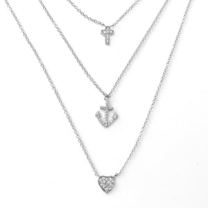 Birmingham Jewelry - Cross Anchor Heart Necklace - Birmingham Jewelry