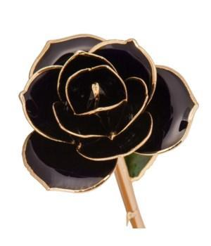 Birmingham Jewelry - Diamond Black - 24K Dipped Rose - Birmingham Jewelry