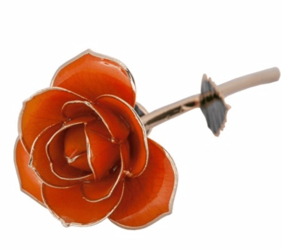 Birmingham Jewelry - Juicy Orange - 24K Dipped Rose - Birmingham Jewelry
