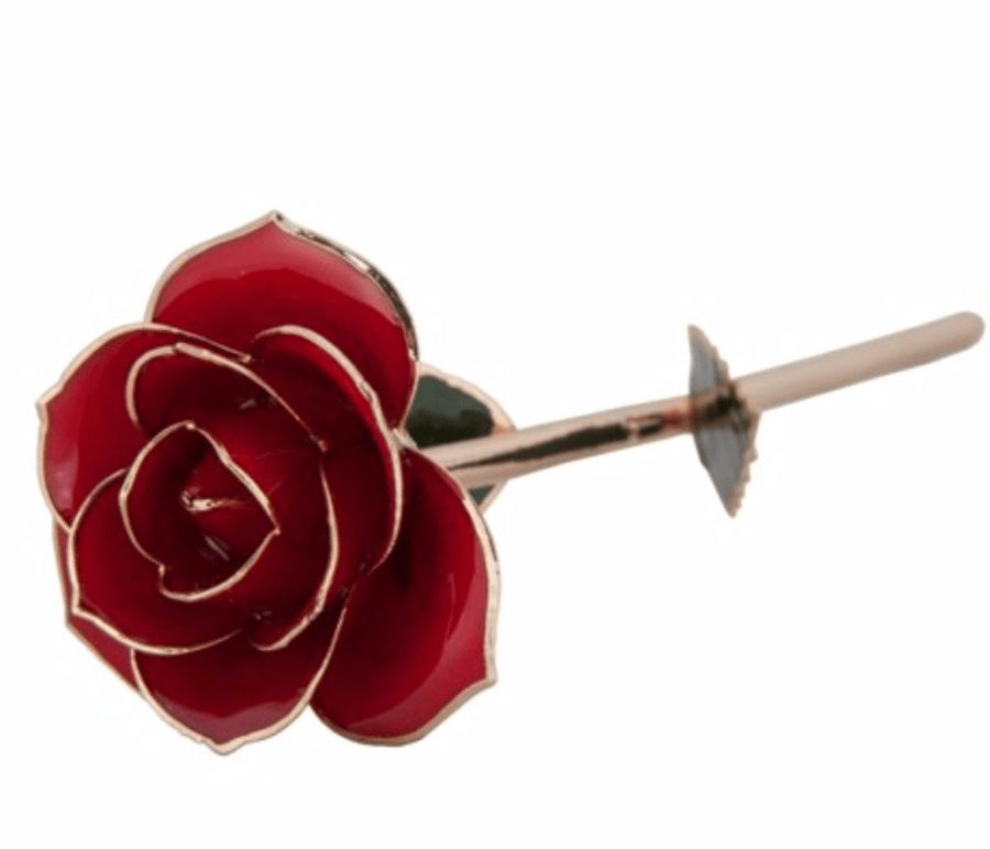 Birmingham Jewelry - Ravishing Red - 24K Dipped Rose - Birmingham Jewelry