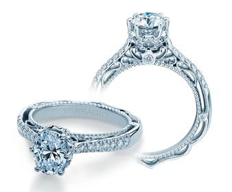 VENETIAN-5077OV Unique Verragio Oval Engagement Ring, Wedding - Birmingham Jewelry