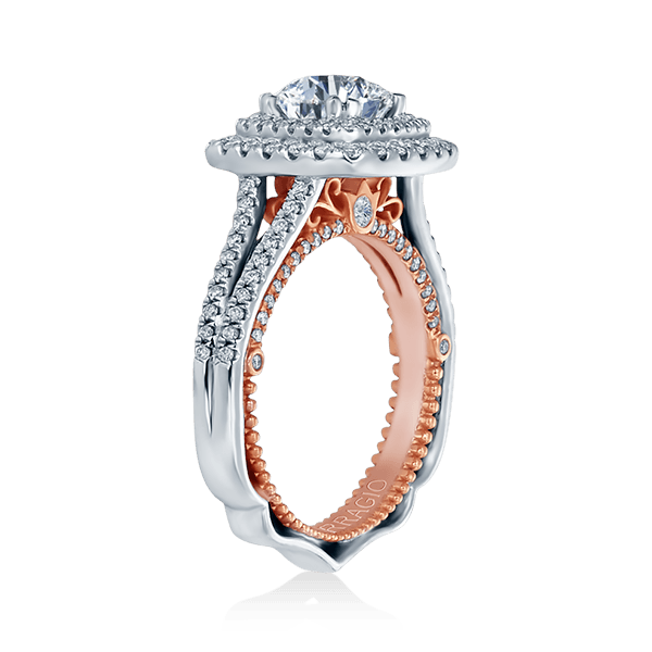 VENETIAN-5073CU-2WR Double Halo Verragio Engagement Ring Cushion Halo two one - Birmingham Jewelry