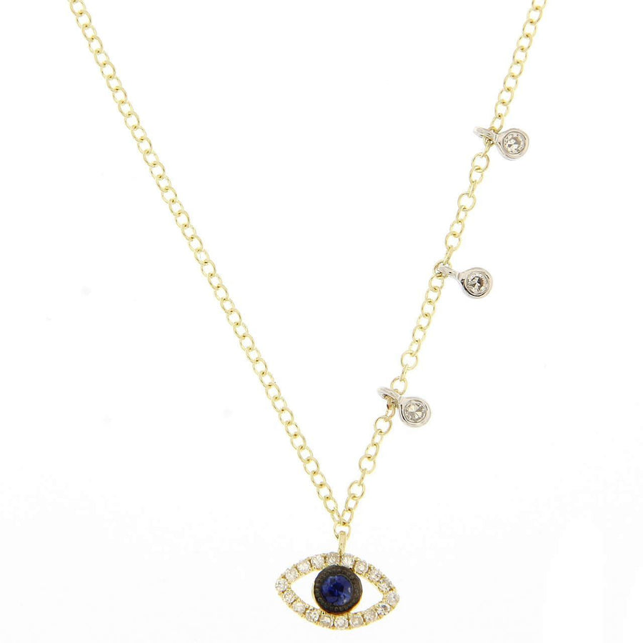 Meira T - Evil Eye Necklace with Diamonds - BJN10152 - Birmingham Jewelry