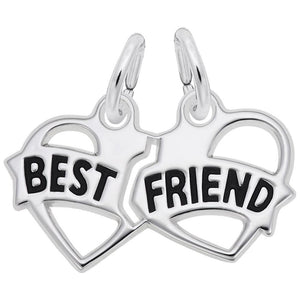 Rembrandt Charms - Rembrandt Charms - Best Friend Hearts Charm - 6596 - Birmingham Jewelry