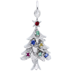 Rembrandt Charms - Rembrandt Charms - Christmas Tree With Ornaments Charm - 2335 - Birmingham Jewelry