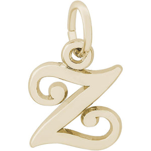 "Rembrandt Charms - Rembrandt Charms- Curly Initial Accent Charm - 4765 ""14K GOLD"" - Birmingham Jewelry"