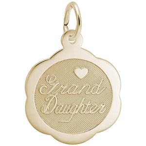 Rembrandt Charms - Rembrandt Charms - Granddaughter Scalloped Disc Charm - 6499 - Birmingham Jewelry