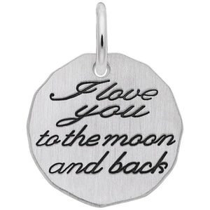 Rembrandt Charms - Rembrandt Charms - I Love You To The Moon and Back Charm Tag - 1535 - Birmingham Jewelry