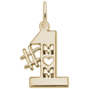 Rembrandt Charms - Rembrandt Charms - Number one Mom Charm - 6179 - Birmingham Jewelry