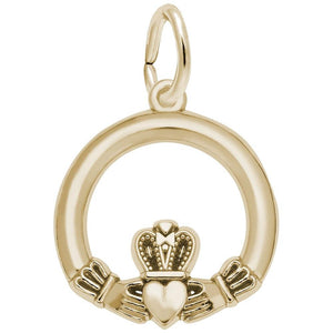 Rembrandt Charms - Rembrandt Charms - Small Claddagh Charm - 7793 - Birmingham Jewelry