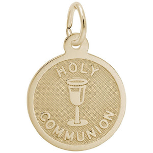 Rembrandt Charms - Rembrandt Charms - Small Holy Communion Disc Charm - 6532 - Birmingham Jewelry
