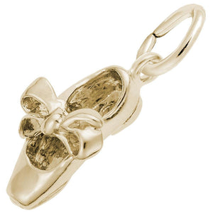 Rembrandt Charms - Rembrandt Charms - Tap Shoe With Ribbon Charm - 7798 - Birmingham Jewelry