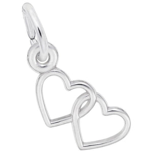 Rembrandt Charms - Rembrandt Charms - Two Open Hearts Accent Charm - 4512 - Birmingham Jewelry
