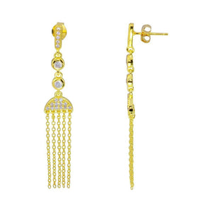 Silver Jewelry - Drop Tassel Earrings - Birmingham Jewelry