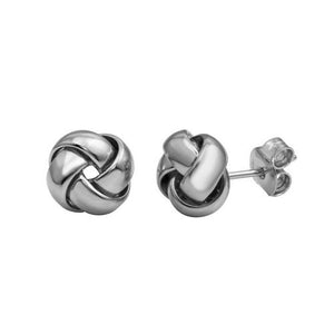 Silver Jewelry - Knot Stud Earrings - Birmingham Jewelry