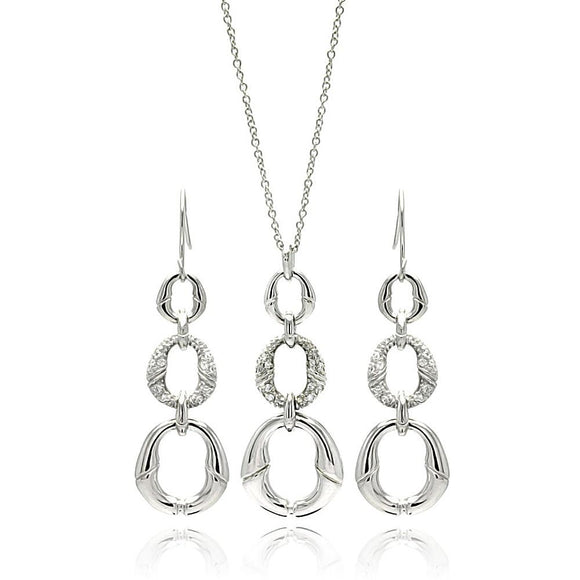 Open Oval Cz Set
