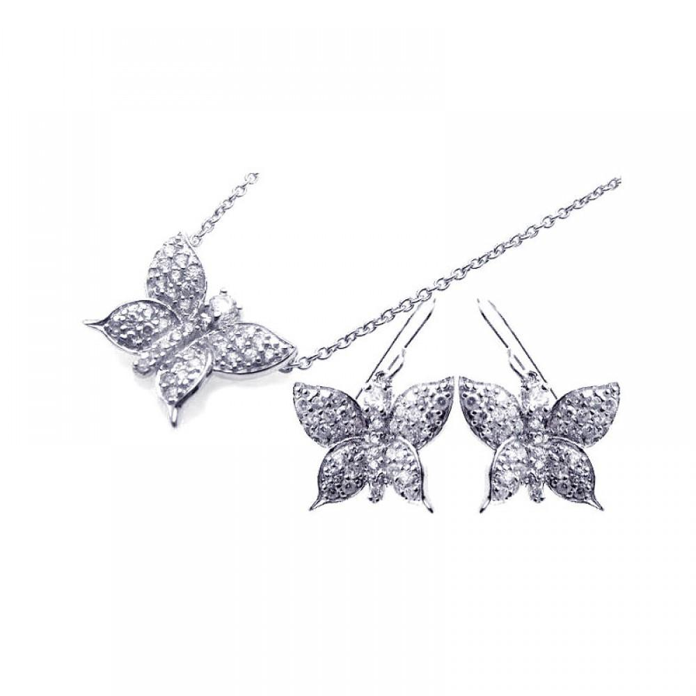 Butterfly Cz Set - Birmingham Jewelry