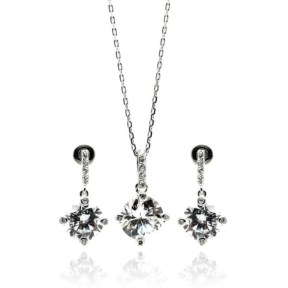 Clear Round Cz Set - Birmingham Jewelry