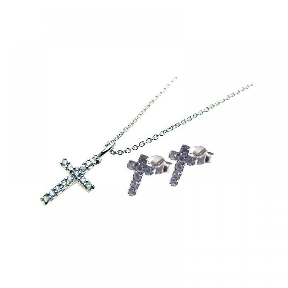 Cross Set Small cz - Birmingham Jewelry