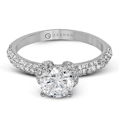 ZEGHANI ZEGHANI - ZR1225 Engagement Ring - Birmingham Jewelry