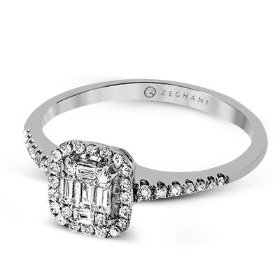 ZEGHANI ZEGHANI - ZR1230 East Side Engagement Ring - Birmingham Jewelry