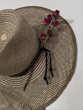 Dark Sage Green Straw Hat SOLD