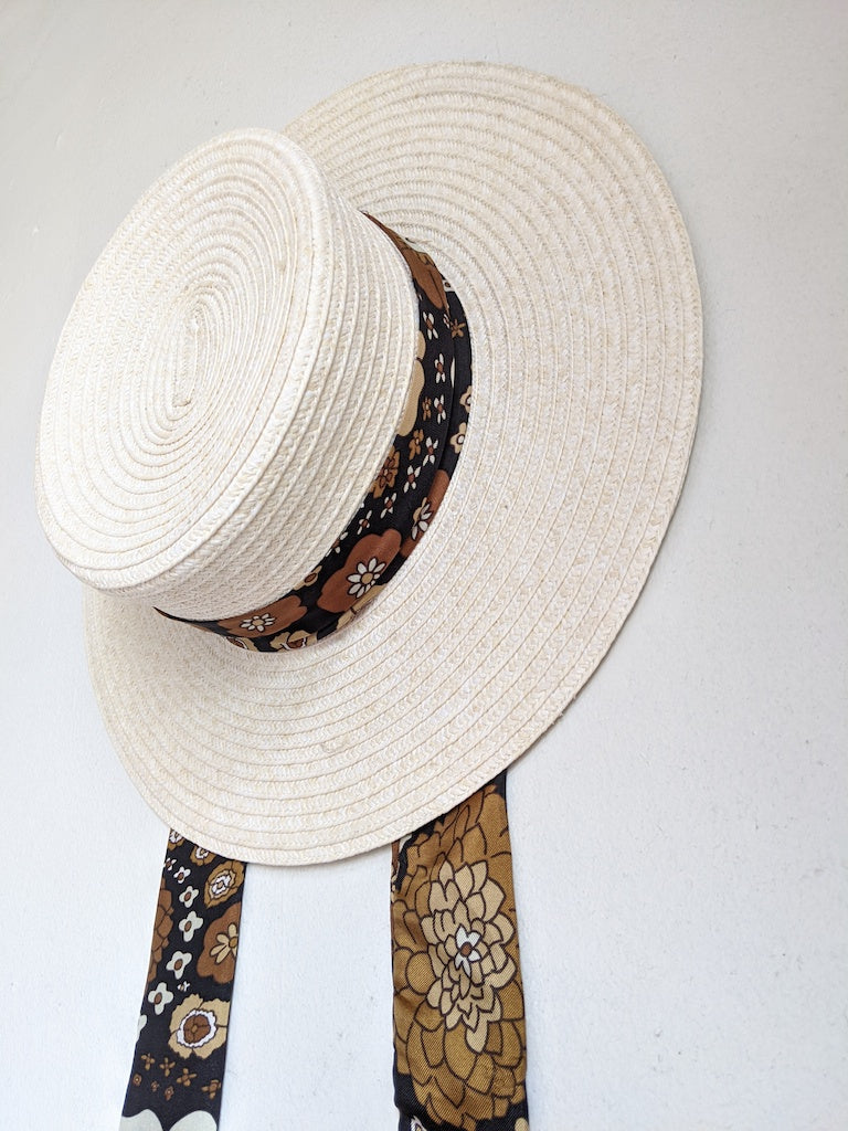 Boater straw hat SOLD