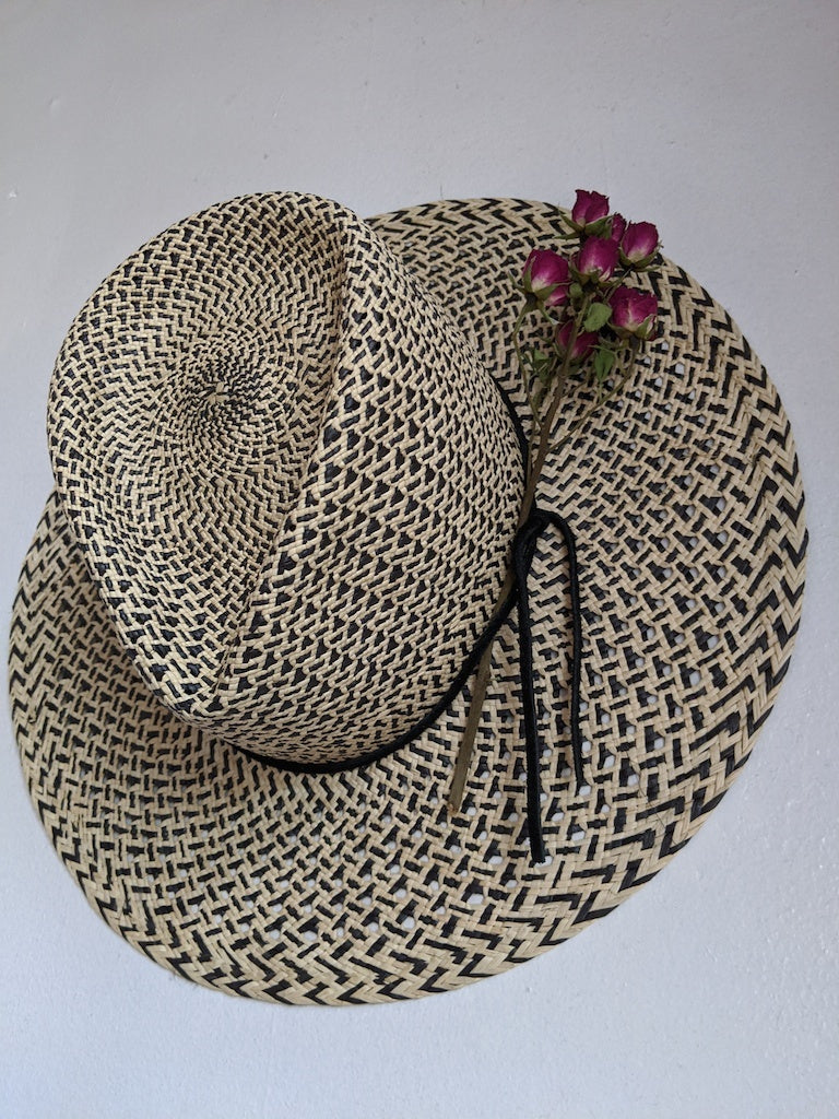 Two Toned Classic straw hat