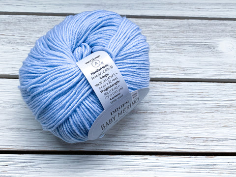 Ice blue baby merino  | Drops