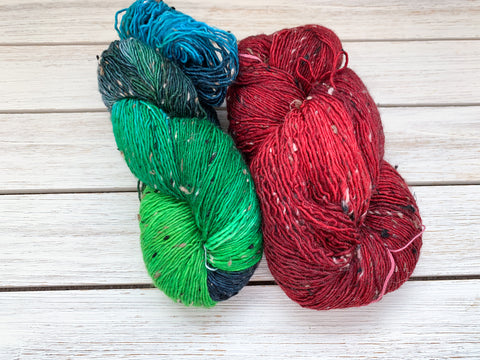 Vagabonds | 2 merino tweed skeins