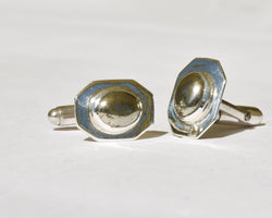 Emerald Pyrite Cufflinks