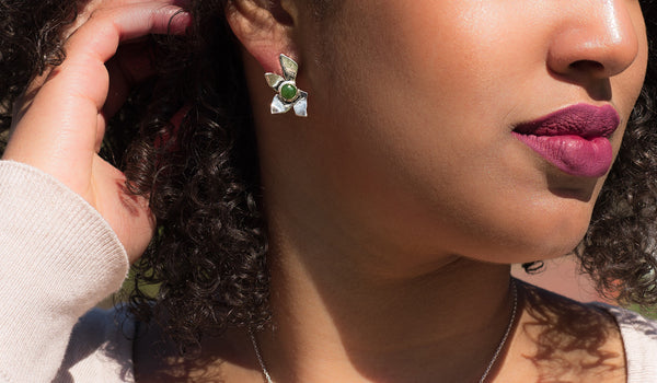 Aster Jade Earrings