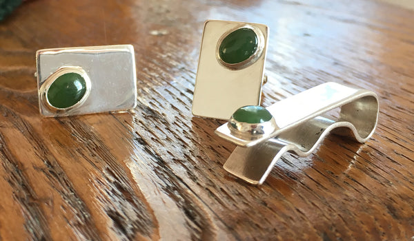 Bar Jade Cufflinks
