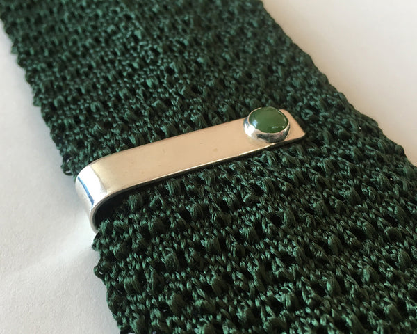 Jade Short Tie Bar