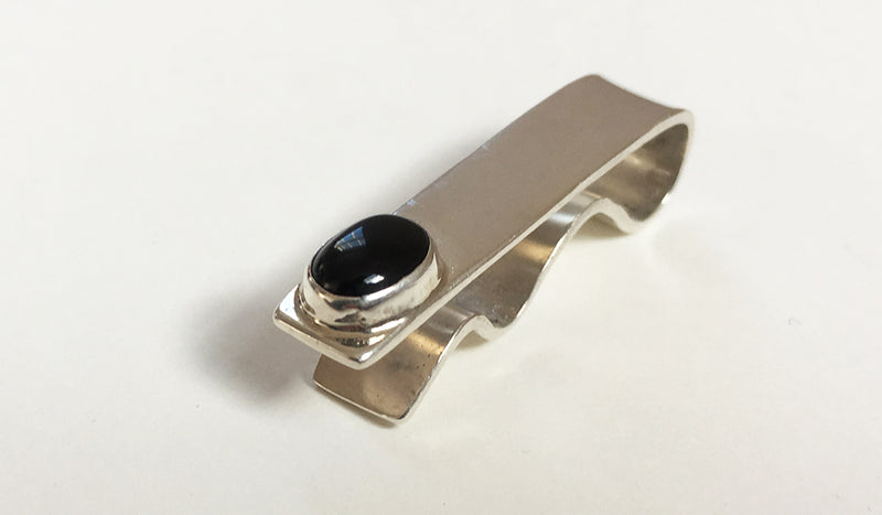 Onyx Short Tie Bar