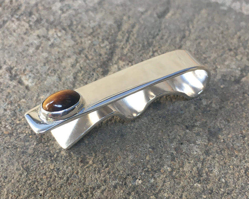 Tiger Eye Oval Tie Bar