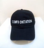 SM046 CONFRONTATION BASEBALL CAP - WHITE EMBROIDERIES