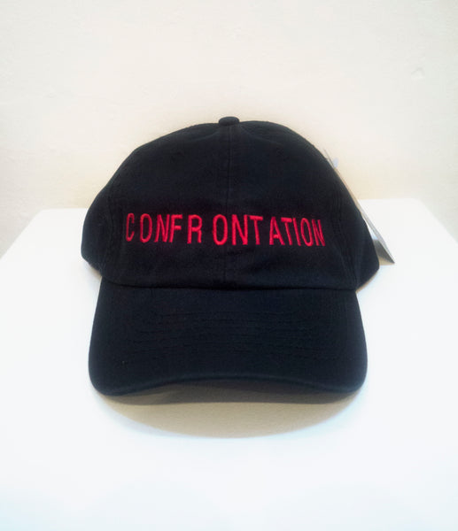 SM046 CONFRONTATION BASEBALL CAP - RED EMBROIDERIES