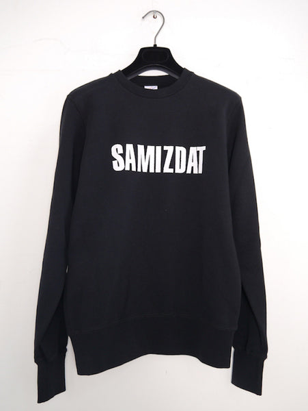 SM009 LOGO CREWNECK SWEATER - BLACK