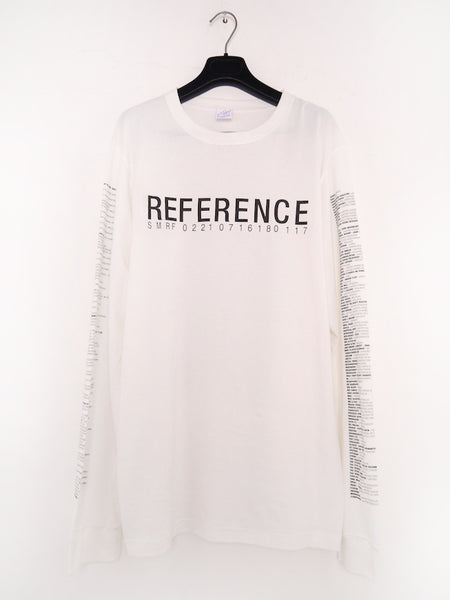 SM066 REFERENCE 3.0 LONGSLEEVE T-SHIRT - OFF WHITE