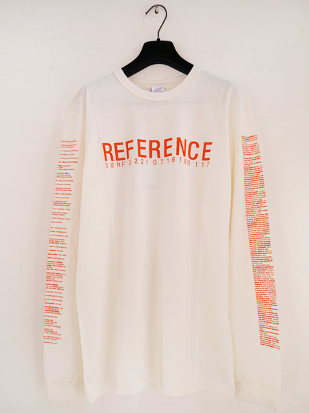 SM096 REFERENCE 4 LONG SLEEVE T-SHIRT - OFF WHITE