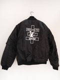 SM102 CROSS BOMBER JACKET - BLACK