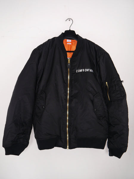 SM042 CONFRONTATION MA-1 BOMBER JACKET - BLACK