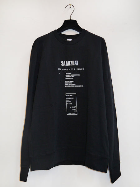 SM010 STRANGENESS INDEX ALBUM CREWNECK SWEATHER - BLACK