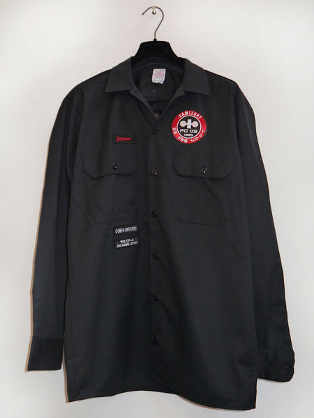 SM045 WORKWEAR SHIRT - BLACK