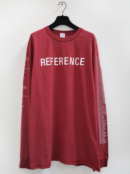 SM008 REFERENCE LONGSLEEVE T-SHIRT - DARK RED