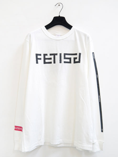 SM024 FETISH LONG SLEEVE T-SHIRT - OFF WHITE