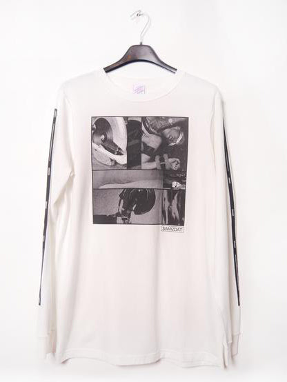 SM065 POWER TOOLS LONGSLEEVE - OFF WHITE