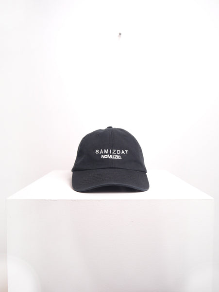 SM074 NOMUZIC CAP - BLACK/OFF WHITE